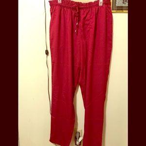 Deep Red Dress Pants